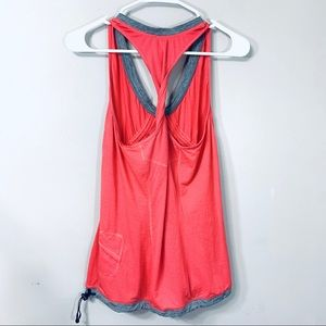 Lululemon Coral & Gray Twisted Back Tank Top 6